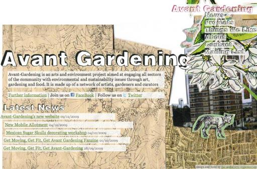 Avantgardening.org: One of the websites I put live this week